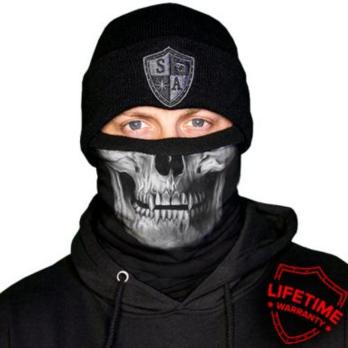 MULTIFUNKČNÁ ŠATKA FROST TECH™ | TACTICAL | BLACK SKULL | FLEECE LINED