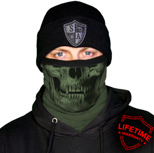 MULTIFUNKČNÁ ŠATKA FROST TECH™ | TACTICAL | OD GREEN SKULL FLEECE LINED