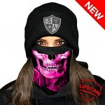 MULTIFUNKČNÁ ŠATKA FROST TECH™ | SKULL TECH | PINK CROW FLEECE LINED