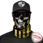 MULTIFUNKČNÁ ŠATKA DON'T TREAD SKULL | YELLOW & BLACK