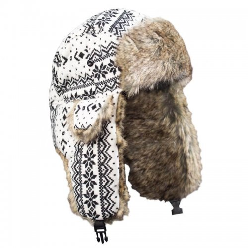 BARANICA TRAPPER HAT | NORDIC | BLACK & WHITE
