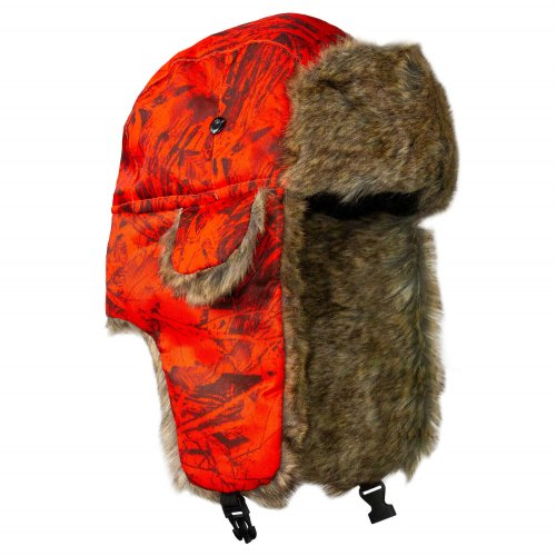 BARANICA TRAPPER HAT | FOREST CAMO | HIGH VIS ORANGE