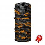 MULTIFUNKČNÁ ŠATKA ORANGE MILITARY CAMO SKULL